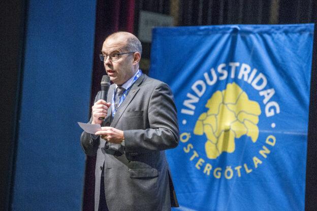 Landshövding talar på industridag i Östergötland 2019, Foto: Magnus Andersson